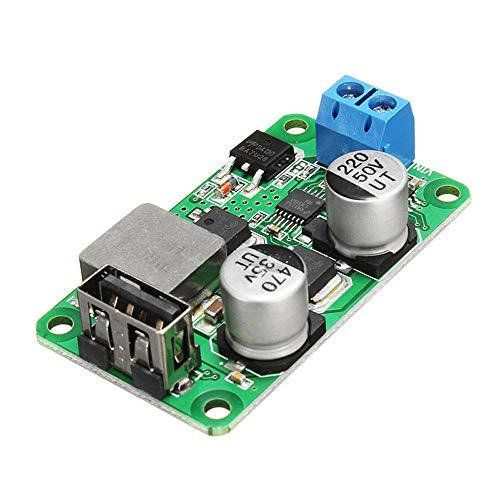 Módulo de fuente de alimentación 5 piezas 5 V 5 A DC USB Buck Módulo de carga USB Paso hacia abajo Power Board de alta corriente Soporte QC3.0 Cargador rápido