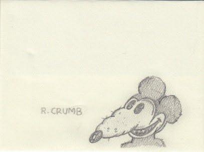 Albuquerque Mall Regular discount Robert Crumb Cartoonist signed sketch