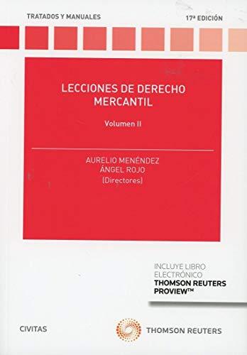 Lecciones de Derecho Mercantil Volumen II (Papel + e-book) (Tratados y Manuales de Derecho)