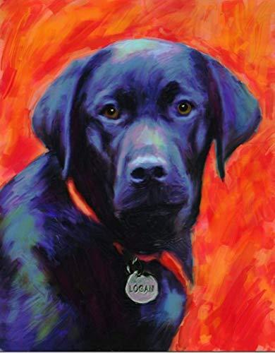 Diy 5D kits de pintura de diamantes para adultos y principiantes lindo perro labrador negro bordado de diamantes de imitación redondo punto de cruz artes artesanía lienzo decoración de pared 16x20 p