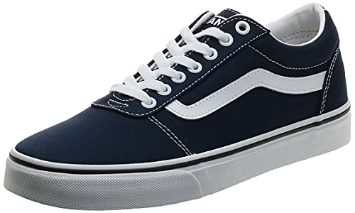 Vans Ward Canvas, Zapatillas para Hombre Azul (Dress Blues/White Jy3) 44 EU