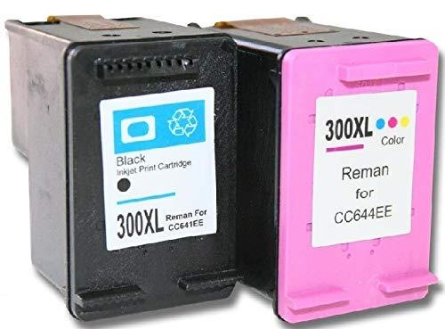 2 cartuchos XXL de impresora compatibles con HP 300 XL Deskjet F4500 F4580 negro + color F2480 F2483