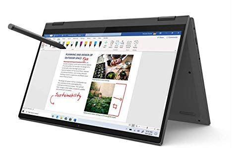 Lenovo IdeaPad Flex 5 Convertible Notebook, Display 14 Zoll (35,6 cm) Full HD Touch, Prozessor Intel Core i5-1035G1, 512 GB SSD, RAM 8 GB, Fingerprint, Lenovo Digital Pen, Windows 10, Graphite Grey