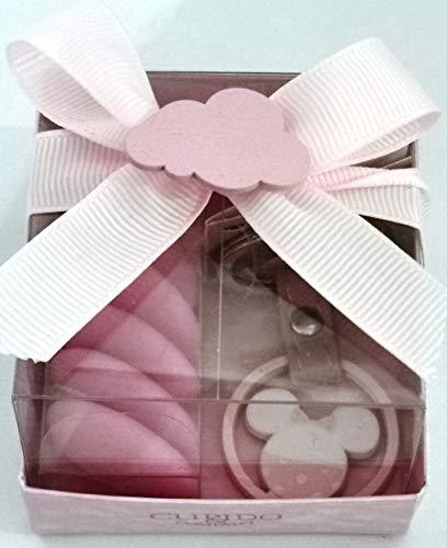 CARTOON WORLD BOMBONIERA Scatolina Porta Confetti con PORTACHIAVE Disney - Minnie Baby a