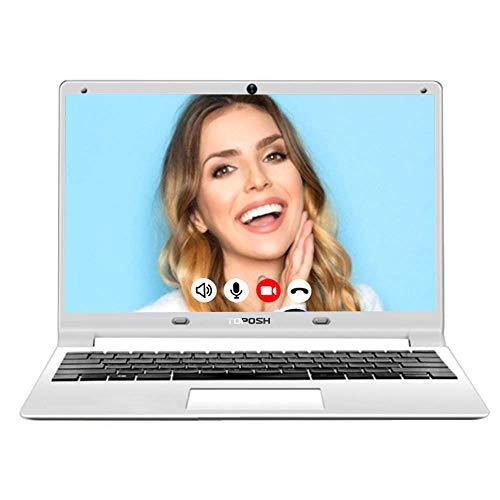 TOPOSH 11.6 Inch PC Laptop Windows 10 Notebook Computer 8GB RAM+128GB SSD Intel Celeron J3455 Quad Core 1.5GHz Processor Graphics with US Keyboard WIFI Bluetooth- White