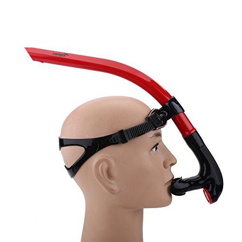 VGEBY1 Tubo de respiración de natación Frontal, Equipo de Snorkel de PU cómodo y Estable Buceo subacuático Accesorio de Snorkel(Rojo)