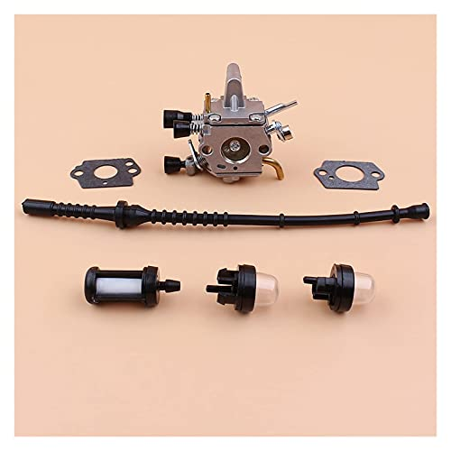 Carburador Kit de bombilla de imprimación de manguera de combustible compatible con S-TIHL FS120 FS120R FS200 FS200R FS020 FS202 FS250 FS300 FS350 Accesorios de desbrozadora Desbrozadora