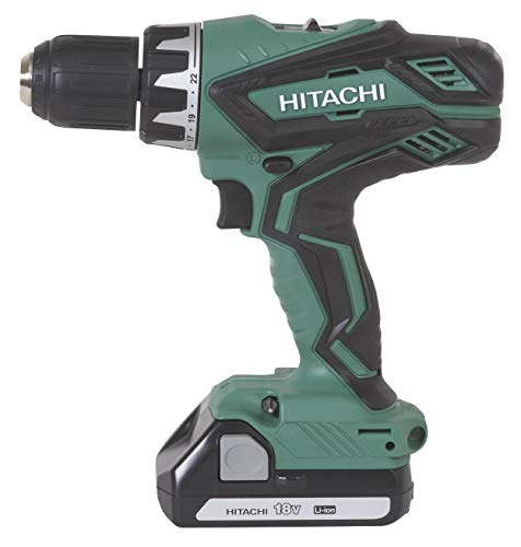 Hitachi DS18DGL 18-Volt Cordless Lithium-Ion 1/2 Inch Compact Drill Driver Kit (Lifetime Tool Warranty) (Discontinued by the Manufacturer)