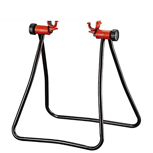 Gebuter Bike Cycle Stand Wheel Stand Foldable Bicycle Station Portable Bicycle Repair Rack Universal for Road and Mountain Bike Maintenance Home Garage Bicycle Shop Displaying Stand