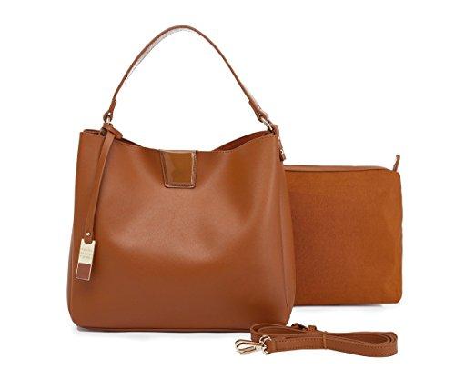 Bolsos mujer marrón, bolsos shopper, bolsos hobo efecto piel 2 bolsos en...