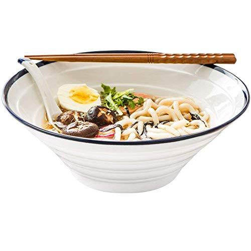O&YQ Tazones de Almacenamiento para el Hogar Vajilla de Cerámica Japonesa Tazones para Ramen Tazones para Mezclar Tazones para Ensaladas de Frutas Tazones Grandes Tazones de Arroz para Sopa de Fideos