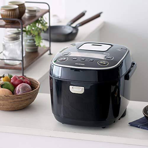 『アイリスオーヤマ IH炊飯器 一升 10合 IH式 31銘柄炊き分け機能 極厚火釜 玄米 IH式 ブラック RC-IE10-B』の11枚目の画像