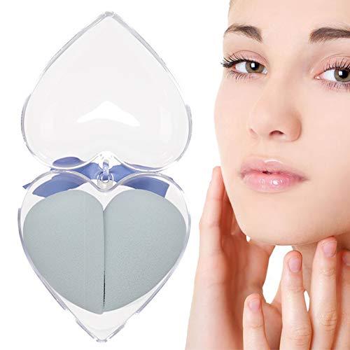 2pcs / Set Maquillage Éponge Blender Fondation Blending Éponge Cosmétiques Éponge Pour Blending Supply Foundation, Light Blue