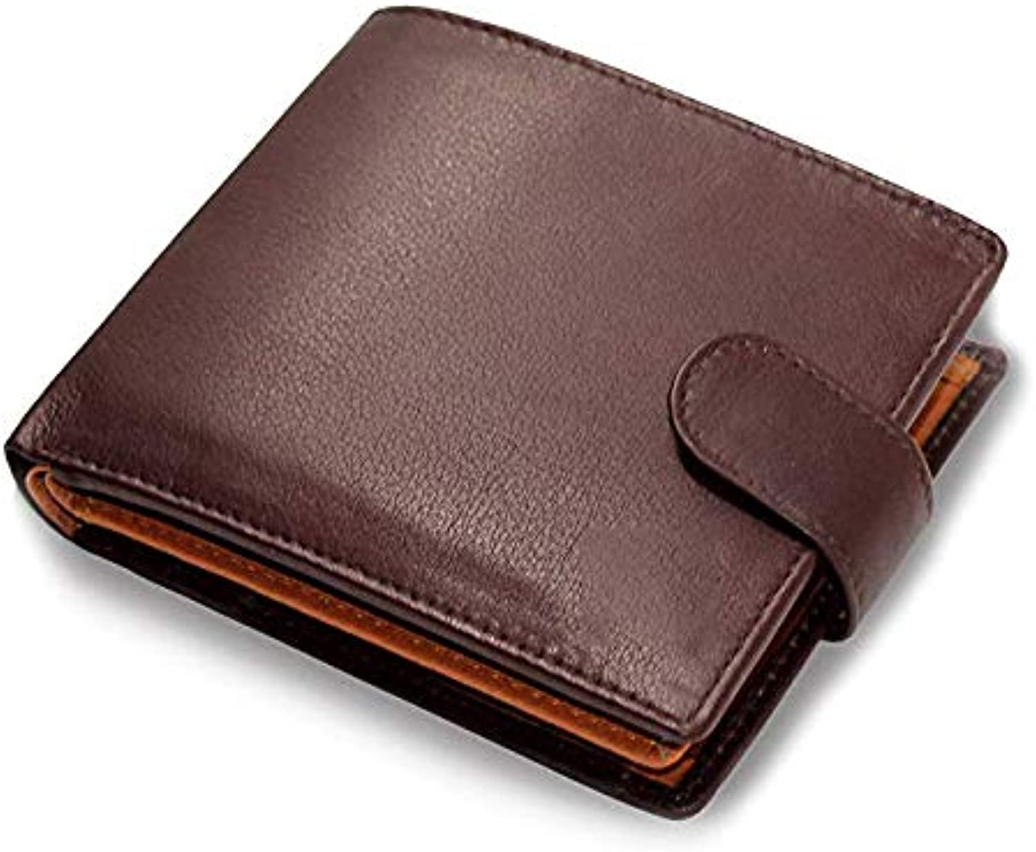 Brown Real Soft Leather Wallet with Genuine Leather Large Zip Coin Pocket, Predection Luxury Soft Genuine Leather Wallet Purse Coin Pouch Gift Boxed