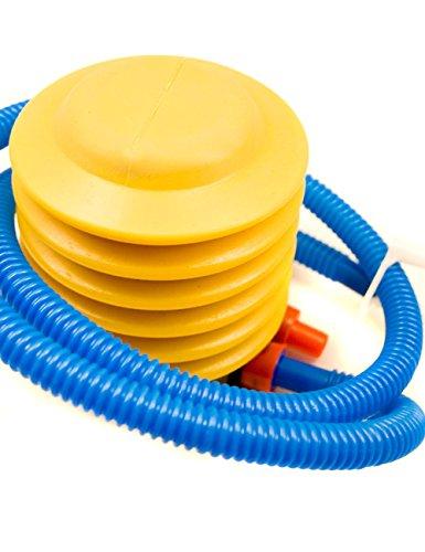 HomeTools.eu® - Pumpe Blasebalg für Bade-Ball Bade-Bälle Schwimm-Ring, Luftmatratze, Schlauch mit verschiedenen Düsen