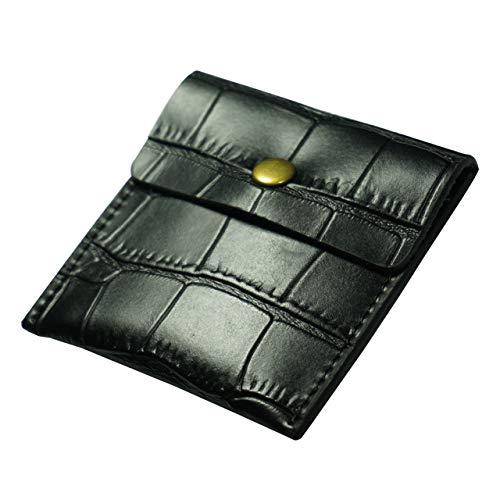 携帯灰皿 高級 PU革 ポータブル ポケット アウトドア おしゃれ メンズ 3色展開(黒い)