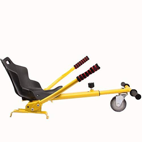 XZR Amarillo Hoverboard, Ajustable Gokart Racer Hoverkart, Deber Marco Vespa, para Todas Las Edades, de Smart Auto Marco Equilibrio Vespa, se Ajusta a 6,5, 8,10 Pulgadas