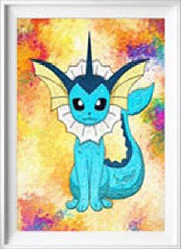 Sbnkyqsl 5d Diy Diamant Peinture Point De Croix Personnage De Dessin Animé Mignon Pokemon Pikachu Mosaïque De Diamant Couleur De Broderie Illustration
