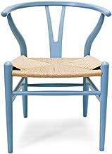 Wegner CH24 Wishbone Chair, Set of 2, Light Robins Egg Blue Painted Beechwood Replica
