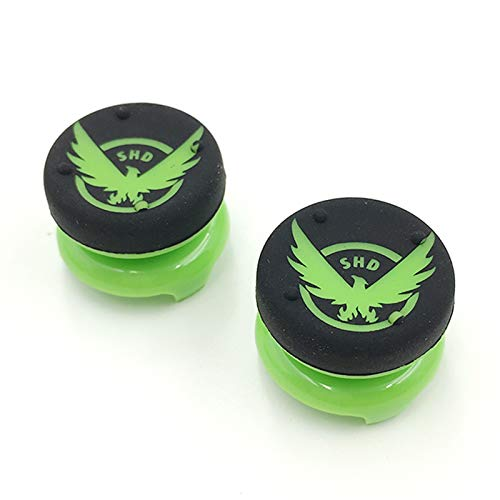 2 x High Extender Analog Thumbsticks Cap Thumb Stick Grips Joystick Cap Cover for Playstation 4 for PS4 Xbox 360 PS3 Controller (Green Eagle)