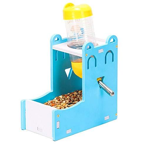 wersdf Comederos Cobaya Comederos Hamster Conejo dispensador de Agua Rata de la Comida Ardilla de Conejo de la Comida Hámster Cuencos de Comida Set-Blue