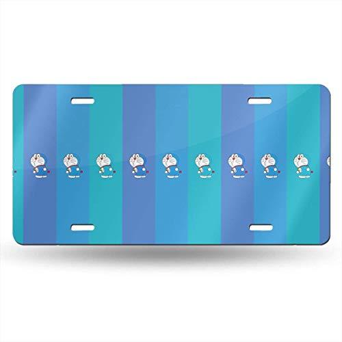 Suzanne Betty Aluminum License Plates - Blue Doraemon License Plate Tag Car Accessories 12 X 6 Inches
