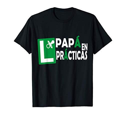 Hombre Papá en Prácticas Divertida Futuro Papá Anuncio Embarazadas Camiseta
