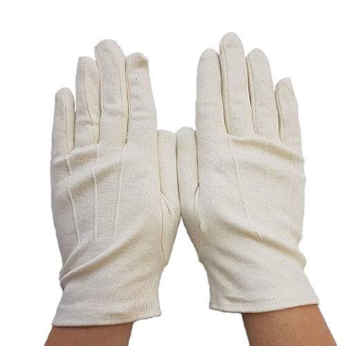 Gants en coton biologique sans traitement, pour soins des mains. (coton bio, 8.5)