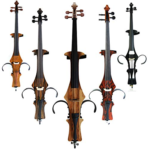 Leeche Handmade Professional Solid Wood Electric Cello 4/4 Full Size...