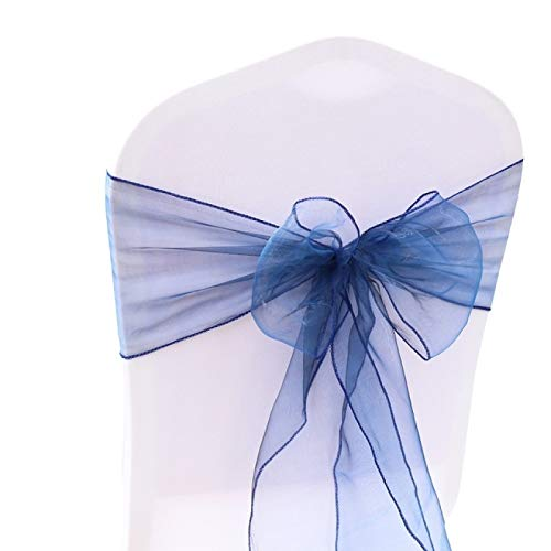 LXHANSPF-lead 1pcs 18x275cm Organza Chair Sashes Bow Tie Band Knot Chair Cover Tulle for Wedding Banquet Christmas Event Party Decoration