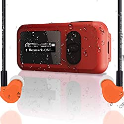 commercial IP68 waterproof MP3 player for swimming, SUNNZO 8GB MP3 player for swimming with bluetooth and screen, FM radio, etc. waterproof mp3 player