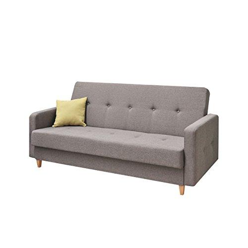 Design Schlafsofa Tango, Sofa mit Bettkasten und Schlaffunktion, Modernes Bettsofa, Schlafcouch, feiner Webstoff, Wohnlandschaft (Drago 136)