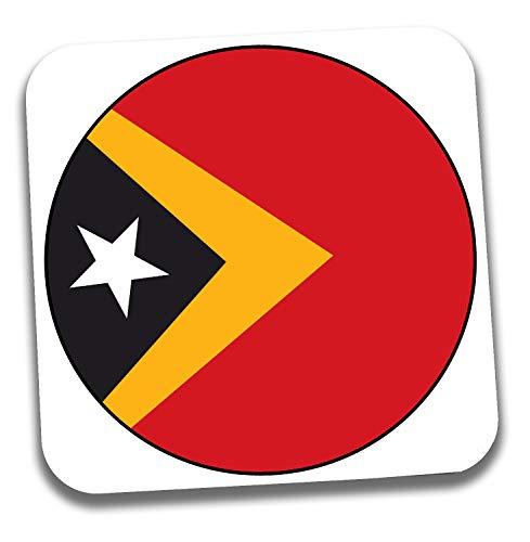 Getränkeuntersetzer mit Ost-Timorflagge – Geschenk – Geburtstag – Weihnachten – Nikolaus – Weihnachtsgeschenk