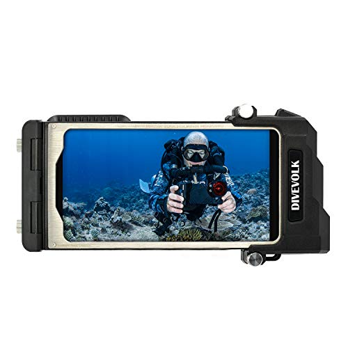 DIVEVOLK Button Free Underwater Real Touchscreen for iPhone Diving housing case [80m/262ft] IP80 Diving Case for Diving housing Surfing compatiable for iPhone XR/11/ Pro/Max Professional