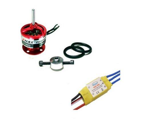Hobbypower 30a Brushless ESC Speed Controller + Emax 1200kv Brushless Motor