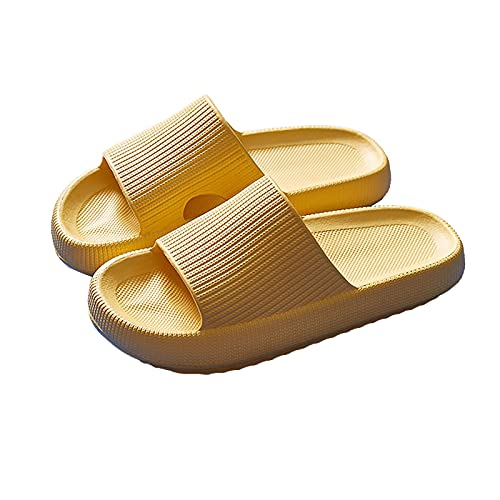 Slippers for Women and Men Shower Quick Drying Bathroom Sandals Open Toe Soft Cushioned Extra Thick Non-Slip Massage Pool Gym House Slipper for Indoor & Outdoor