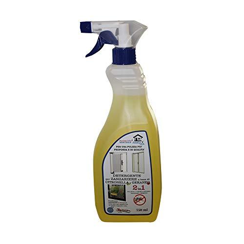 Detergente Pulisci Zanzariere a Base di Citronella e Geraneo 750ml