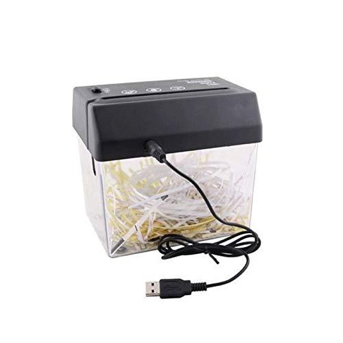 Mini Trituradora De Papel USB Plastico Pequeña Para Casa, Destructora De Papel Electrica De Corte De Tira De Escritorio Con Abrecartas, Portatil Shredder Automatica 2Hoja A4, Capacidad Uso Personal