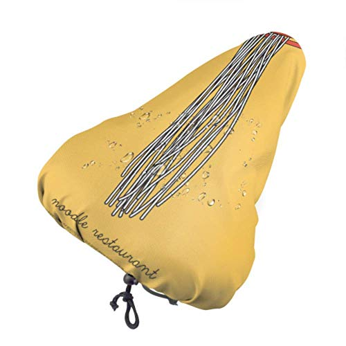 Covercat Protector de Asiento, Comida de Fideos en Palillos, Funda de Asiento de Ciclo, Funda de Asiento para niños con cordón