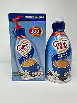COFFEE MATE French Vanilla Liquid Coffee Creamer 50.7oz Pump - Non Dairy No Refrigeration 300 Serving