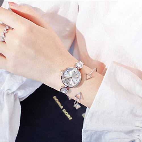 Women's Design Watch Diamond Women's Watch Brand All Stainless Steel Quartz Clock...