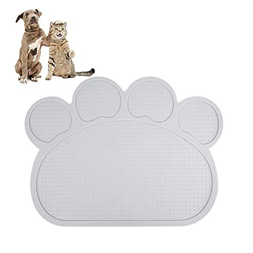 Napfunterlage Katze Hund Futtermatten Silikon Platzdeckchen Haustiere rutschfeste Unterlage für Wasserdicht Hunde Katzen