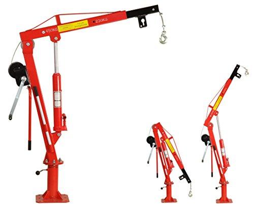 Pro-Lift-Werkzeuge Pick Up Kran Ladekran Hebekran Schwenkkran 450 kg mit Seilwinde Pritsche Anhänger klappbar