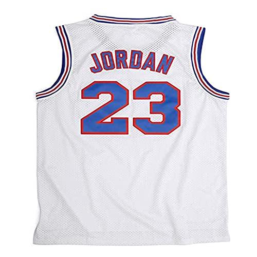 PAPAO Camiseta de Baloncesto para Hombre NBA Michael Jordan 23 Camiseta sin Mangas Transpirable Chaleco Deportivo Fan Basketball, White Basketball Jersey-XL