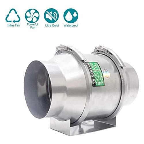 Lcxligang Hidropónico crece habitación del conducto del ventilador en la línea de ventilación del extractor El ventilador está hecho de acero inoxidable funcionamiento continuo y un hermoso diseño for
