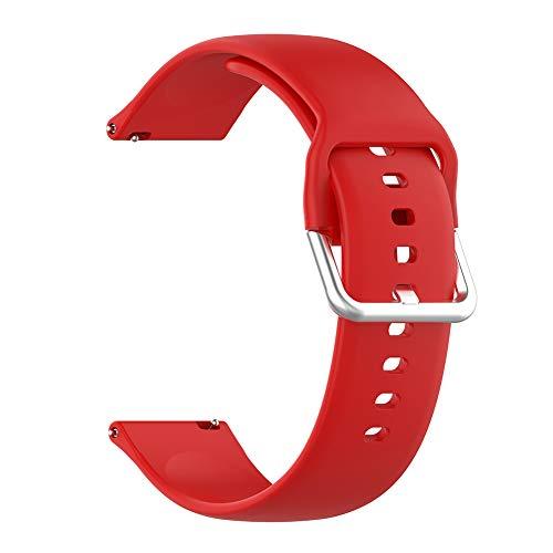 Lanrue Correa de silicona Banda de 22 mm Ancho para Xiaomi Mi Reloj Color Haylou Solar (Rojo)
