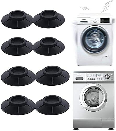 Almohadillas para pies de lavadora, 8pcs Pies Antivibracion para Lavadoras Soporte de Goma Antivibración, Amortiguador de Vibraciones Universal para Lavadora y Secadora