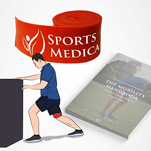 Sports Medica Doctor Developed Muscle Compression Floss Band - for Posture, Swelling, Recovery - Skin & Hair Friendly - The Mobility Handbook and Video Series Included