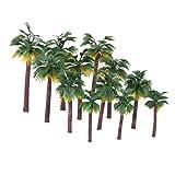 Winomo - 12 macetas de plástico con palmas de coco, diseño de bosque de plástico para plantas en miniatura, artesanales, bonsái, paisaje, decoración DIY