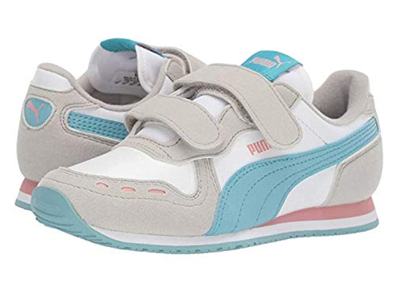 理解高揚した共産主義者[プーマ] キッズカジュアルシューズ?靴 Cabana Racer SL Velcro (Little Kid) White/Milky Blue/Gray Violet 20cm M [並行輸入品]